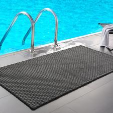 Die Kordelmatte Komfort in grau (132x 72cm) – perfekt am Pool, im Wellnessbereich ...