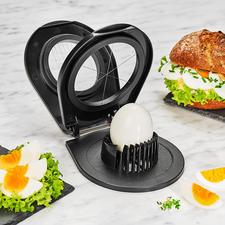 Gefu® Duo-Eierschneider - Mit nur einem Gerät: Feine Eier-Scheiben oder dekorative Eier-Spalten.