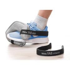 Mit dem separat erhältlichen YAB.Belt am Sportschuh befestigt, ideal auch für ein intensives Training der Bein-, Gesäss- und Bauchmuskulatur.