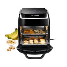 1.800-W-Heissluft-Ofen, Grill mit Drehspiess, Dörrautomat und Umluft-Ofen mit 5Ebenen in einem.