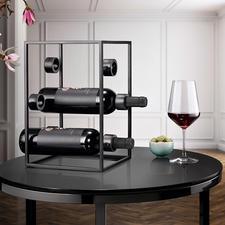 Design-Weinwürfel - Drei Trends in einem: schwarzer Stahl, puristisches Design, geometrische Form.