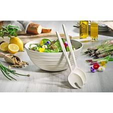 Salat-Set Tierra - Handgemacht wie feinste Töpferware – aber aus recycelten PET-Flaschen.