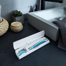 UV-C-Zahnbürstenbox - Hygienisch und sicher: UV-C-Licht lässt Bakterien, Viren und Keimen keine Chance. Perfekt für zu Hause und unterwegs.