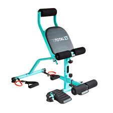 Fast alle Geräte-Übungen aus dem Fitnessstudio können Sie mit dem Total10 ganz einfach zu Hause absolvieren.