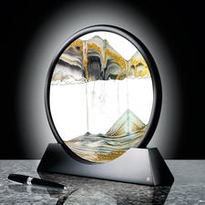 Zauberhaftes Sandbild - Mit unendlich wandelbarem Strukturspiel. Ein Blickfang auf Ihrem Schreibtisch, im Wohn- oder Schlafraum.