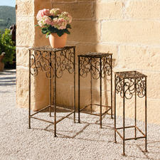 Pflanzenständer, 3er-Set - Aus Schmiedeeisen kunstvoll von Hand gefertigt. Fantastisch vielseitig und 100 % wetterfest.