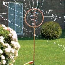 Blue Swirl Wasserspiel - Ein faszinierendes Kunstobjekt bewässert jetzt Ihren durstigen Garten.