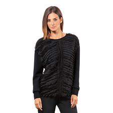 Costume National Fransen-Sweater - Modisch führend: kastige Oberteile nach Sweatshirt-Art. Genau der Stil von Costume National.