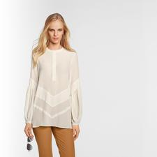 Sly 010 Stretchseiden-Tunika, Cremeweiss - Trend Hippie-Bluse. Die von Sly 010 ist aus reiner Seide – selten edel und elegant.