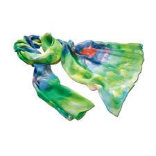 Aquarell-Seidenschal - Die schönsten Farben des Sommers – verewigt in zartem Seidengeorgette. Üppige 2 Meter lang. 24 Gramm leicht.