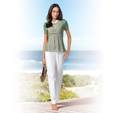 Gran Sasso Blusen-Shirt - Baumwoll-Jersey mit Seiden-Chiffon: Bequem wie ein T-Shirt. Elegant wie eine Bluse. Von Gran Sasso, Italien.