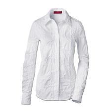 Stickerei-Batistbluse - Bitte niemals bügeln: Die klassische weisse Bluse aus edlem Batist, allover bestickt.