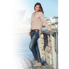 Aigle Fashion-Funktionsbluse - So modisch lässig kann eine funktionelle Outdoor-Bluse sein. Aus Dry-fast®-Gewebe mit UV-Schutz. Von Aigle.