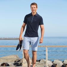 van Laack Frottee-Polo - So stilvoll kann ein flauschig weiches Frottee-Shirt sein. Von van Laack, Hemdenspezialist seit 1881.