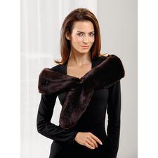Fake-Fur Vario-Schal MiMi Cree - Schal, Loop-Schal, Kragen, Stola, Stirnband,… Aus Webpelz de luxe. Ihr wohl vielseitigster Outfit-Veredler.
