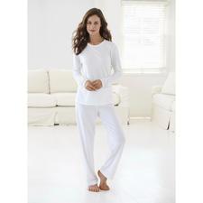 Cornelie Weiss Loungewear-Anzug - Perfekt für den Sommer: der weisse Loungewear-Anzug aus luftigem Baumwoll/Modal-Piqué.