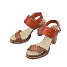 Coque Terra Fussbett-Sandalette - Die Blockabsatz-Sandalette made in Portugal. Von Coque Terra. Herrlich bequem dank Kork-Latex-Fussbett.