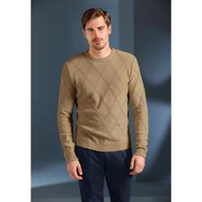 Strukturstrick-Sommerpullover - So sommerleicht kann ein kerniger Struktur-Pullover sein. Aus Baumwolle, Modal und Kaschmir made in Germany. Exklusiv bei Fashion Classics.