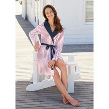 """Taubert Jersey-Hausmantel """"maritim"""" - Der ideale Hausmantel für den Sommer. Und fürs Reisegepäck. Stilvolles, maritimes Design."""