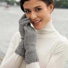 Johnstons Kaschmir-Handschuhe - Plastisch gemustert statt langweilig glatt. Vom Spezialisten Johnstons of Elgin/Schottland.