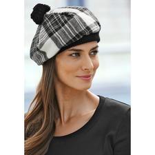 Lochcarron Schottenmütze - Traditionsreiches Stewart Dress Tartan. Reine Lammwolle. Made in Scotland.