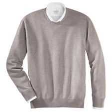 Rundhals-Pullover, Taupe