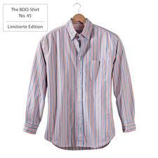 The BDO-Shirt No. 45, Gestreift - Entdecken Sie einen guten alten Freund. Und vergessen Sie, dass ein Hemd gebügelt werden muss.