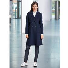 Elegant Seventy Woll Blazermantel Der Blaue Blazer Mantel Im Modisch Zeitgemässen  Schnitt. Hochwertig Umgesetzt