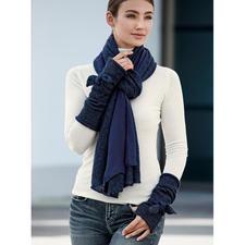 Ancini Doubleface-Schal oder Schleifen-Stulpen - Winterwarme Accessoires mit selten femininer Note.