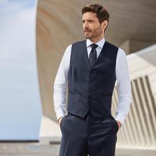 Anzugweste und Anzug-Sakko, Blau