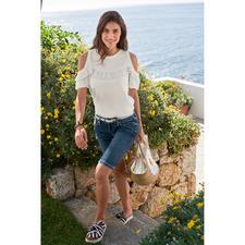 TWINSET Plissee-Basic Shirt - Nicht einfach nur ein weisses Basic – selten feminin mit Plissees dekoriert. Von TWINSET.
