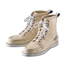 "Sebago® Canvas-Boot ""Lighthouse"" - So edel kann ein Canvas-Boot sein: Mokassin-Machart.  Feine Leder-Details. Noble Bootsschuh-Sohle."
