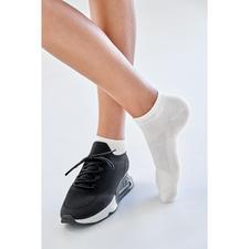Bamboo-Sneakersocken Damen, Weiss