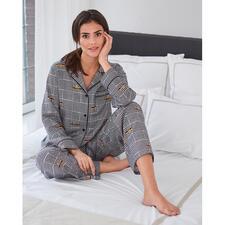 DKNY Hahnentritt-Pyjama - Der Pyjama von Donna Karan New York. Trendgerecht wie ein High-Fashion-Piece.