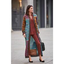 M Missoni Mohair-Maxi-Mantel - Fashion-Kunstwerk par excellence: der Mohair-Maxi-Strickmantel vom Couture-Stricklabel M Missoni.