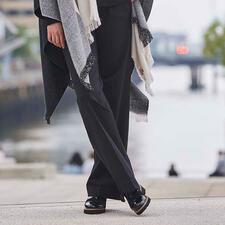 TWINSET Punto Milano Wide-Leg-Pants - Die wohl modischste und bequemste unter den klassischen schwarzen Hosen. Von TWINSET.