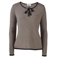 pos•sei•mo Schleifen-Pullover - Seltenes neuseeländisches Possum-Haar macht diesen Pullover so warm, weich und leicht.
