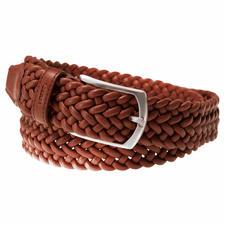 Elastischer Leder-Flechtgürtel - Genial bequemer Ledergürtel: stufenlos verstellbar und sogar elastisch.