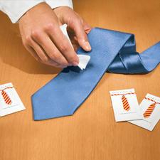Silk & Clean-Tücher, 3er-Set (15 Tücher) - Fleck auf Ihrer Krawatte? Endlich kommt die Rettung.