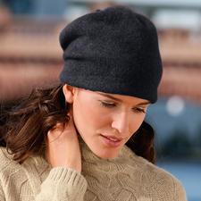 Ellen Paulssen Beanie-Walkmütze - Zeitgemässe Form. Modisch lässiger Sitz. Und keine platt gedrückten Haare.