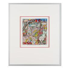 James Rizzi – New York City – Highway to the Sky 2006 - Rarität – eine der letzten handsignierten 3D-Papierskulpturen des verstorbenen James Rizzi. 33 von 350 Exemplaren – exklusiv bei Pro-Idee. Masse: gerahmt 51,5 x 61,5 cm