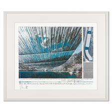 """Christo: """"Over The Arkansas River, Project U"""" - Christos umstrittenes Projekt. Handsignierte Granolithografie. Die letzten 25 von 100 Exemplaren – exklusiv im Pro-Idee Kunstformat."""