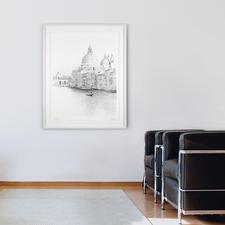 """Jede Facette der prachtvollen Stadthäuser und der BarockkircheSanta Maria della salute ist in dem Werk """"Venedig"""" zu erkennen."""