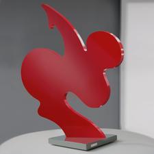 """""""SAPRI"""", Aluminium-Skulptur, 50 x 46 cm."""
