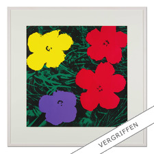 "Andy Warhol: ""Flowers grün"" - Sunday B. Morning Siebdruck auf 1,52 mm starkem Museumskarton."