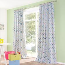 """Vorhang """"Funny Dots"""", 1 Vorhang - Seltener Glücksgriff: Der Kinderzimmervorhang ohne Altersbegrenzung. Mit Verdunkelungsfunktion."""