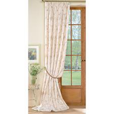 """Vorhang """"Avellino"""", 1 Vorhang - Brillant changierender Taft mit eleganter Blüten-Stickerei."""