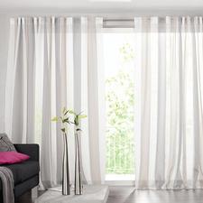 """Vorhang """"Luca"""", 1 Vorhang - Viel interessanter als das übliche Weiss: Der Store mit Blockstreifen."""