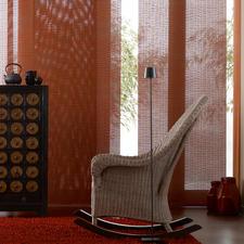 """Flächenvorhang """"Kyoto"""", 1 Flächenvorhang - Was aussieht wie Bast, ist ein beflockter Stoff in seltener Panamabindung."""