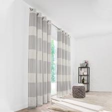 Vorhang Living - 1 Stück - Pflegeleichter Naturlook und Streifen: Klassiker, Allrounder und Preis-Highlight.